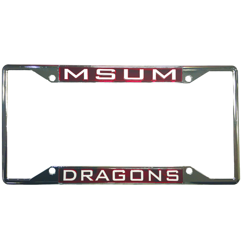 Laser Magic License Plate Dragon Frame | MSUM Bookstore
