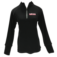 Womens J America Super Soft 1/4 Zip