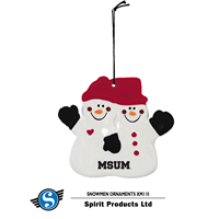 Spirit Msum Double Snowman Ornament