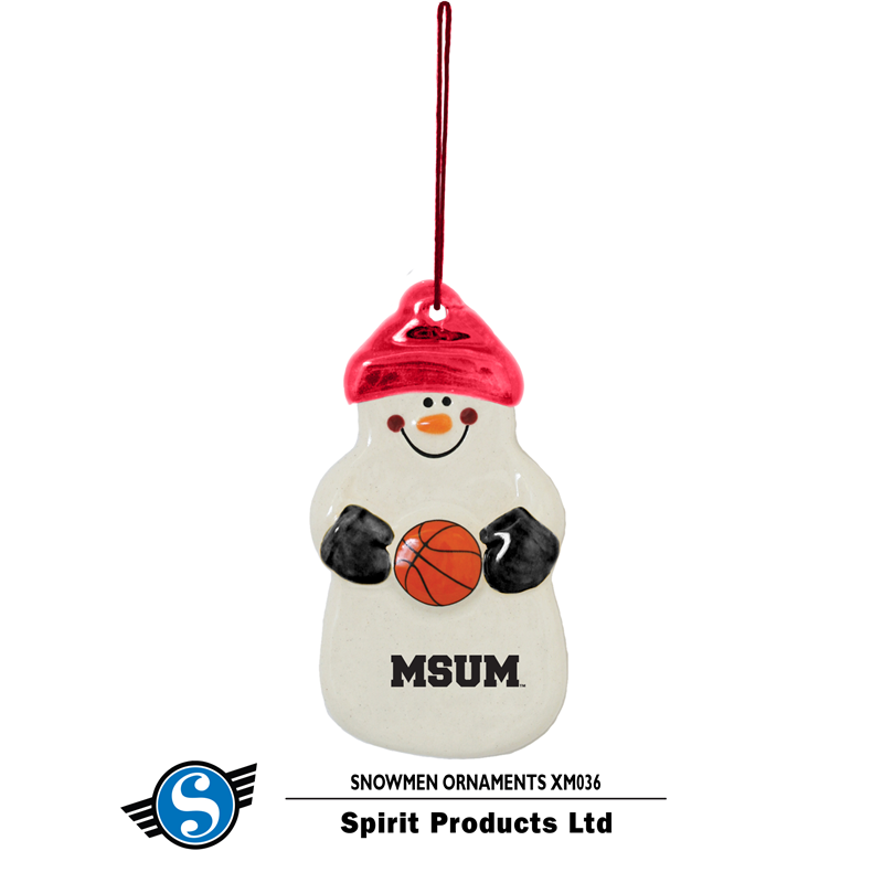 Spirit Msum Basketball Snowman Ornament (SKU 11205814113)