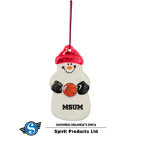 Spirit Msum Basketball Snowman Ornament
